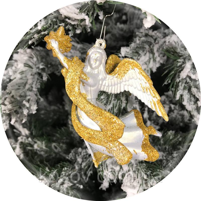 Игрушка на елку «Ангел» (золото, 12см)
