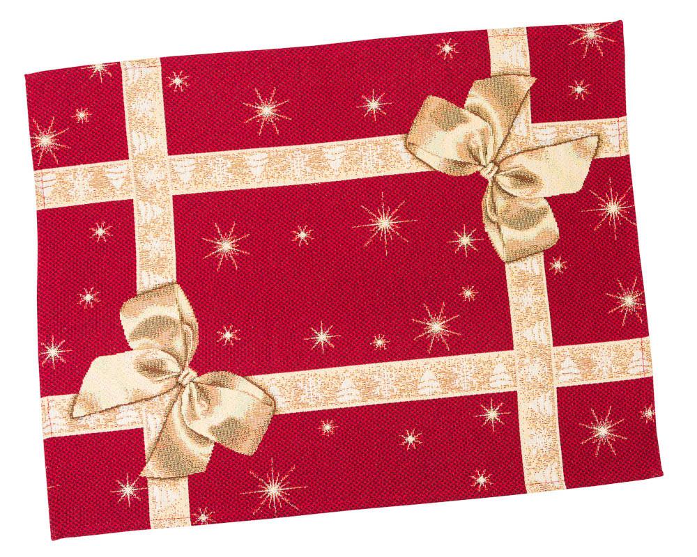 """Салфетка-подкладка под тарелку гобеленовая новогодняя """"Подарункова"""" 37 х 49 см"""