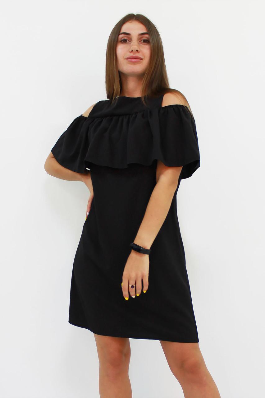 Молодежное черное платье Lola