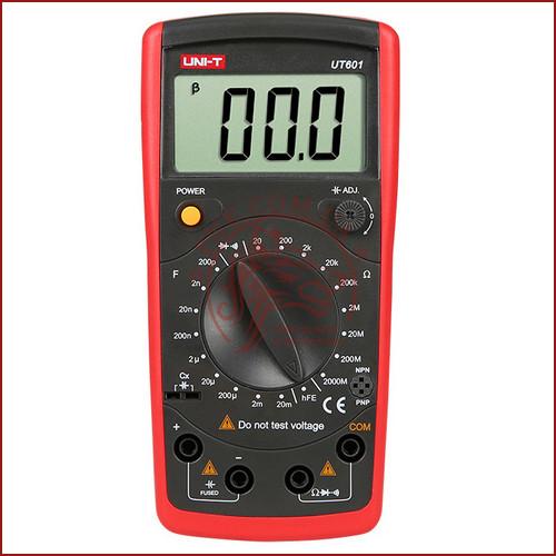 Мультиметр универсальный UNI-T UT-601, измеритель емкости конденсаторов и сопротивления (made in EC)