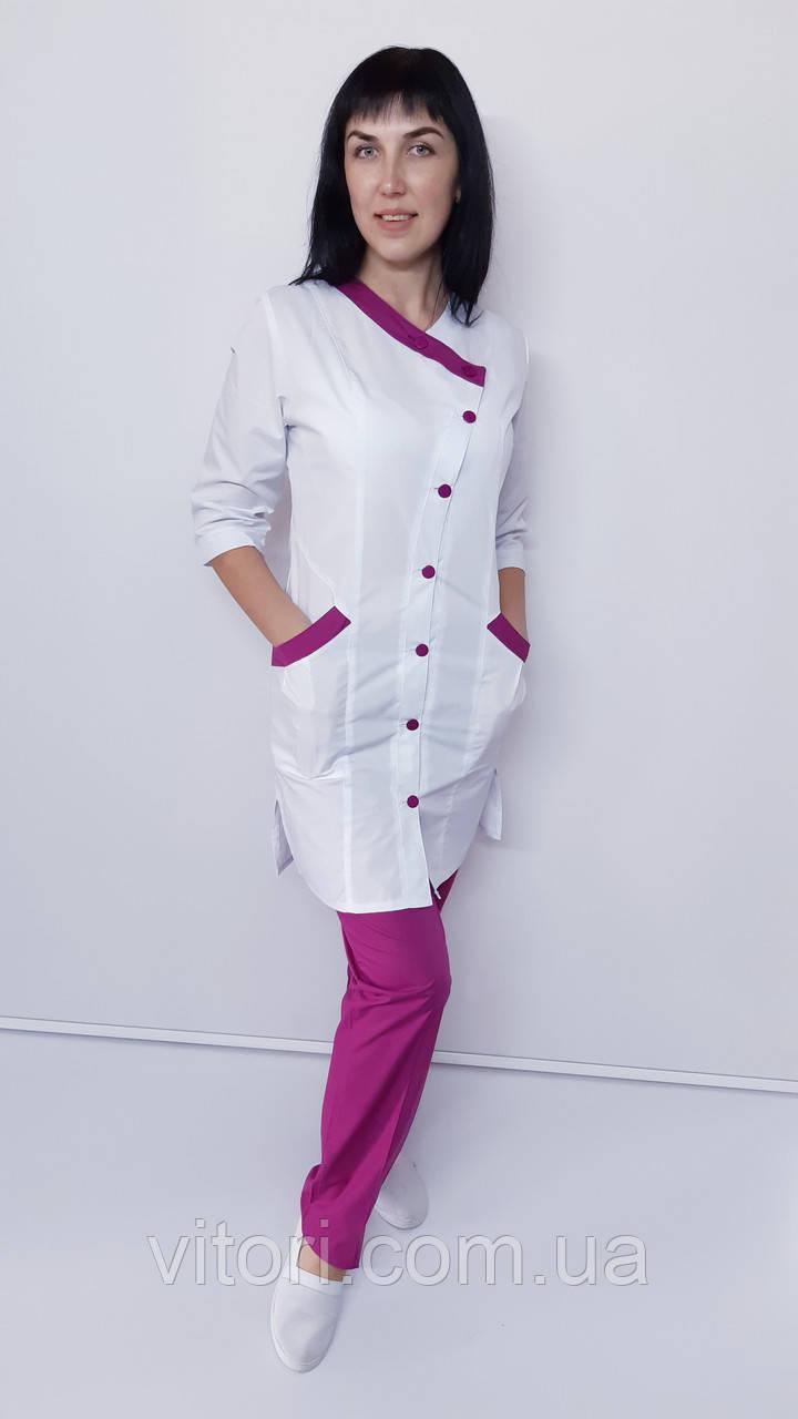 Медичний жіночий костюм Китай 2-ка коттон три чверті рукав
