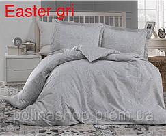 """ОРИГИНАЛ! ПРЕМИУМ КАЧЕСТВО! Комплект постельного белья ALTINBASAK Сатин Deluxe """"Easter gri"""" Евро"""