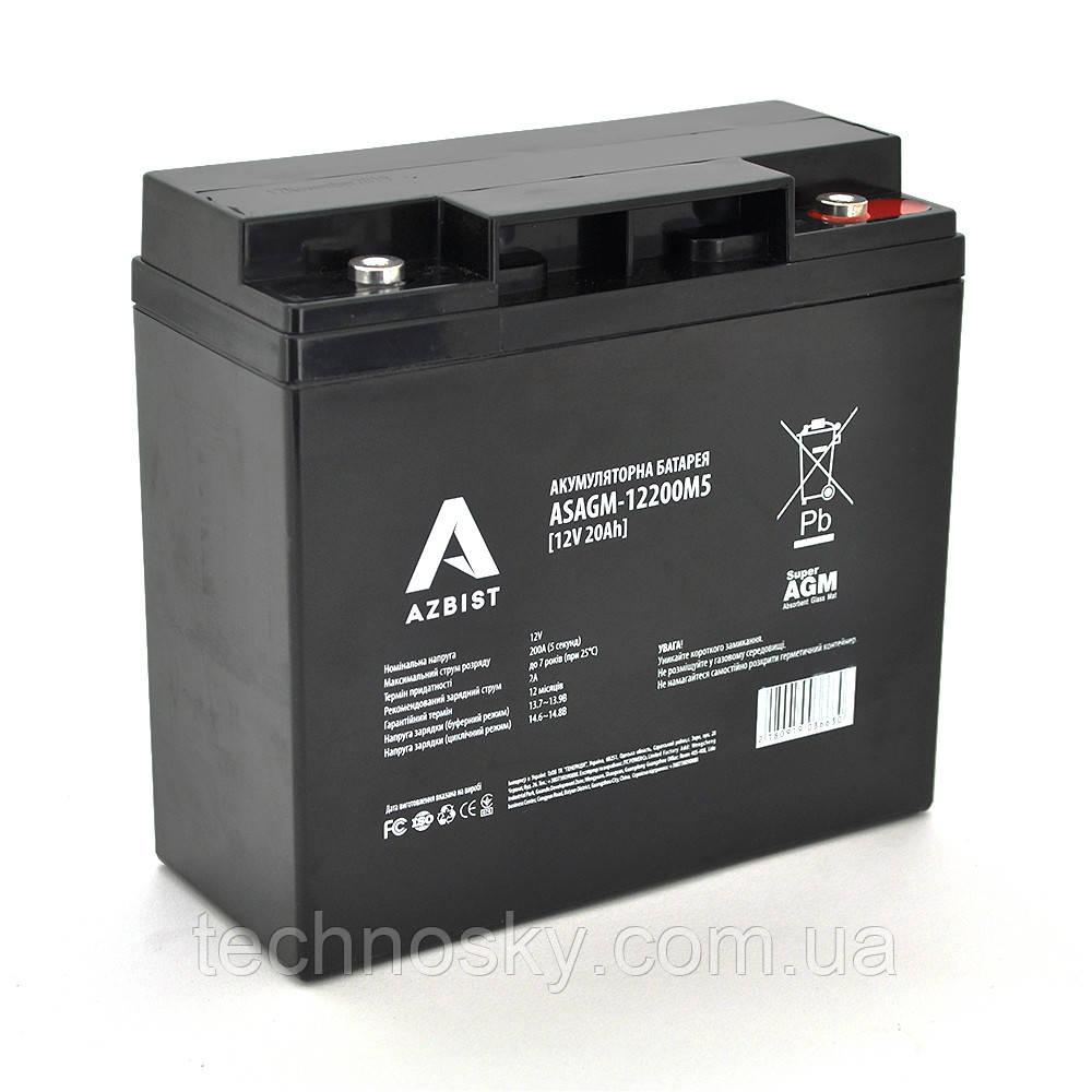 Мультигелевий акумулятор Azbist ASAGM-12200M5 (12V , 20 Ah)