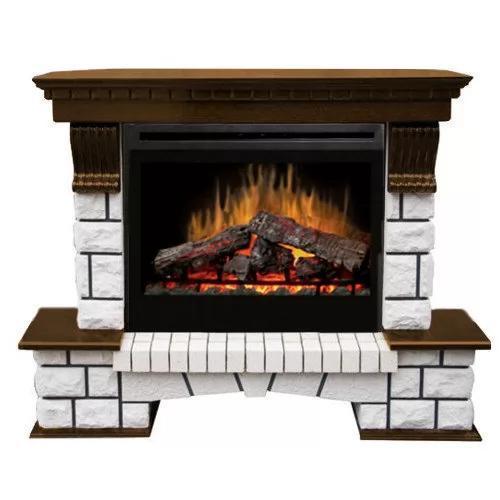 Каминокомплект Fireplace Милан с эффектом сгоранием дров и пламени со звуком и обогревом