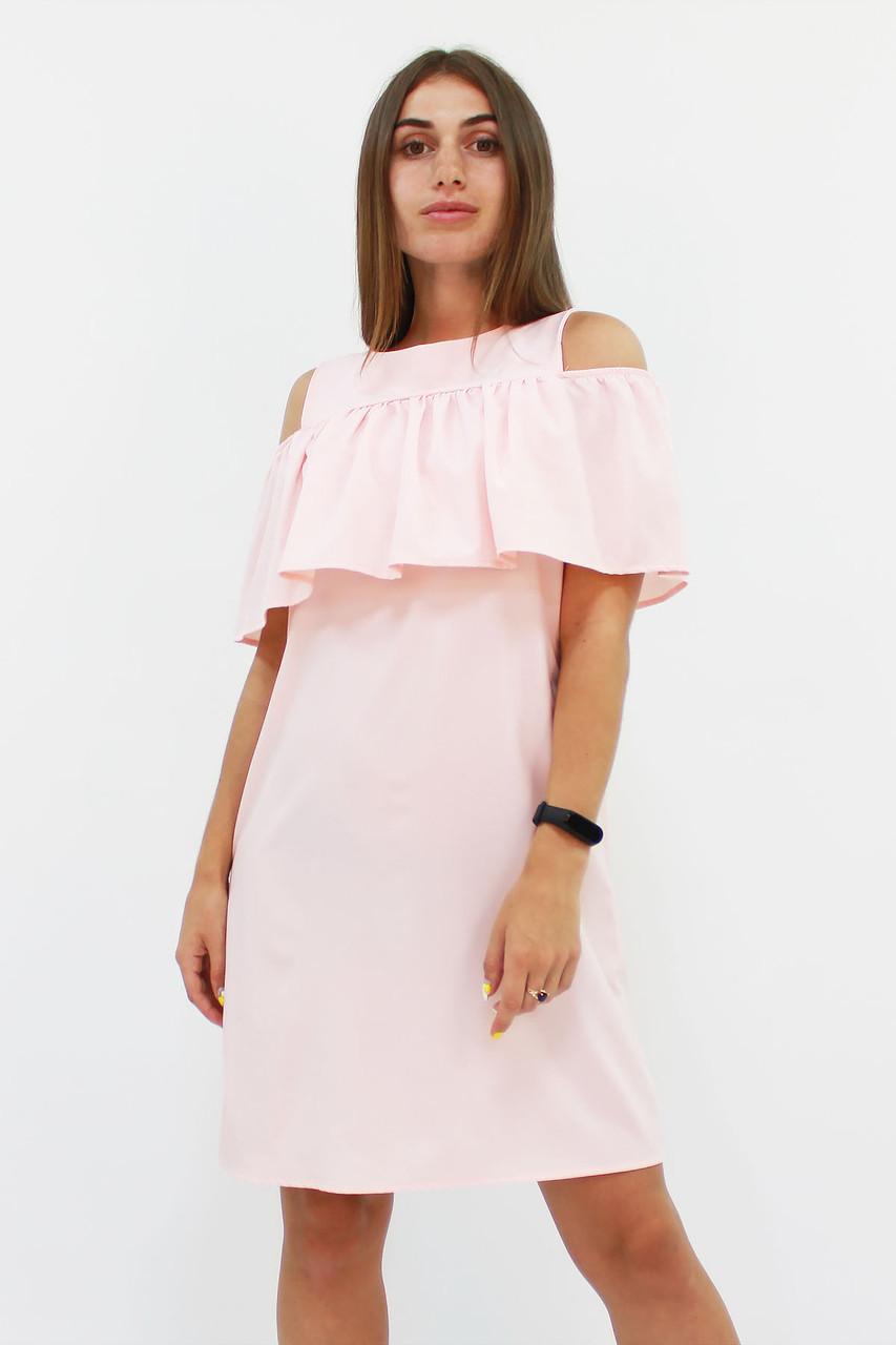 Молодежное персиковое платье Lola