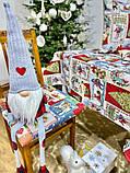 """Скатерть новогодняя гобеленовая тканевая """"Святкові побажання"""" 137 х 240 см скатертина новорічна гобеленова, фото 6"""
