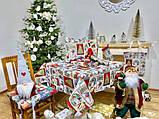 """Скатерть новогодняя гобеленовая тканевая """"Святкові побажання"""" 137 х 240 см скатертина новорічна гобеленова, фото 7"""