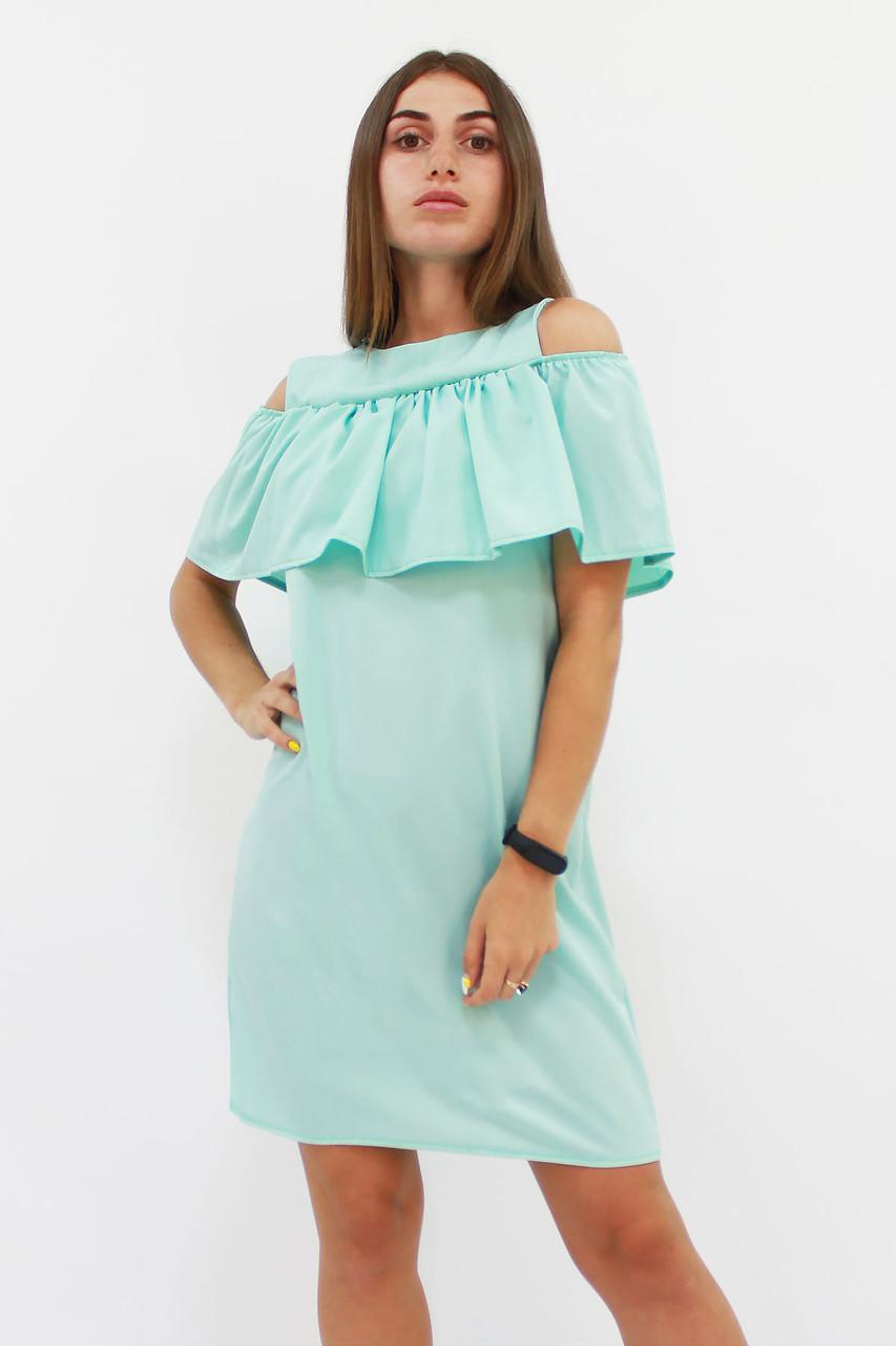 Молодежное ментоловое платье Lola