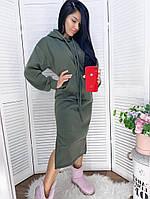 Женское модное платье-туника с капюшоном (Норма и батал), фото 2