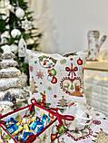 Наволочка декоративная гобеленовая двусторонняя новогодняя 45 х 45 см, фото 2