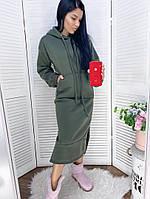 Женское модное платье-туника с капюшоном (Норма и батал), фото 3
