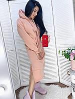 Женское модное платье-туника с капюшоном (Норма и батал), фото 5