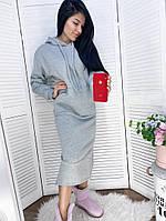 Женское модное платье-туника с капюшоном (Норма и батал), фото 6