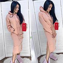 Женское модное платье-туника с капюшоном (Норма и батал), фото 4