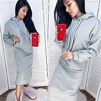 Женское модное платье-туника с капюшоном (Норма и батал), фото 7