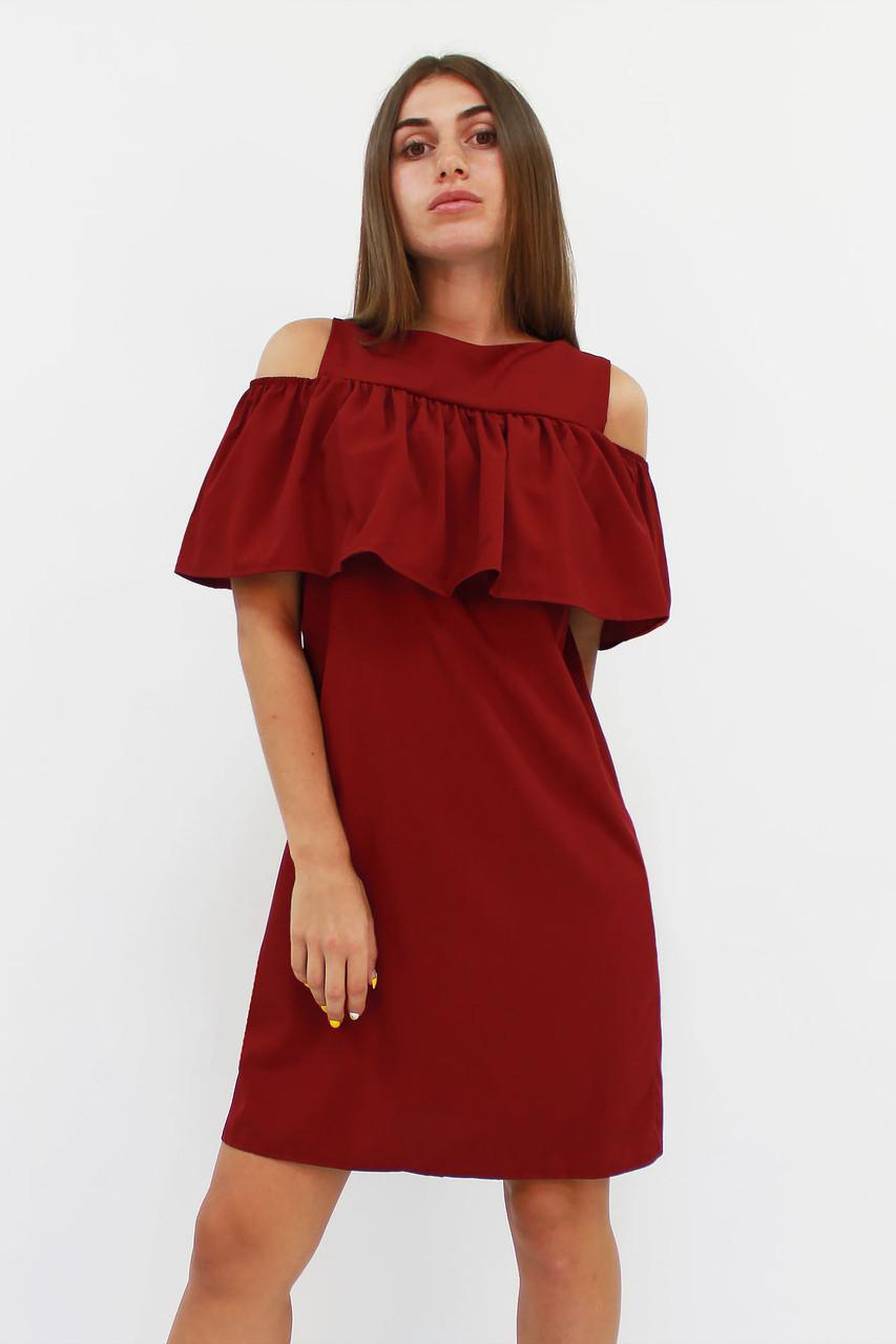 Молодежное марсаловое платье Lola