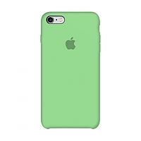 Чехол силиконовый на айфон Silicone Case для iPhone 6 / 6S green зеленый