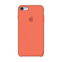Чехол силиконовый на айфон Silicone Case для iPhone 6 / 6S apricot оранжевый