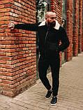 Замшева зимова куртка, чорна стьобаний зимова куртка, фото 6