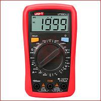 Мультиметр цифровой с термопарой UNI-T UT-33C+, тестер со звуковой прозвонкой, защитой от прегрузки , фото 1