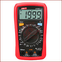 Мультиметр цифровой с термопарой UNI-T UT-33C+, тестер со звуковой прозвонкой, защитой от прегрузки