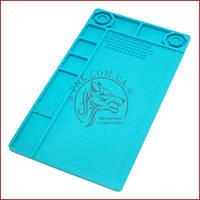 Силіконовий килимок для пайки і ремонту 380*210, термоковрик для розбирання електроніки