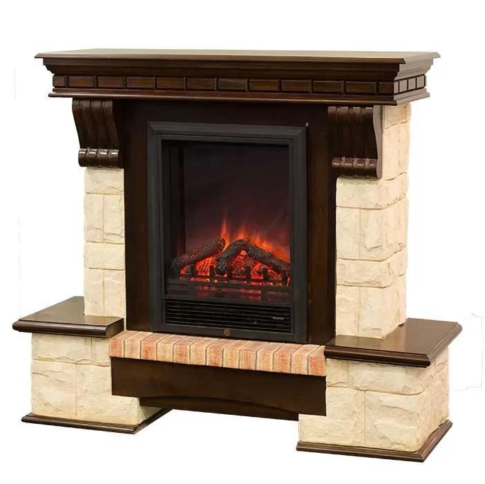Каминокомплект Fireplace Вена с эффектом сгоранием дров и пламени со звуком и обогревом
