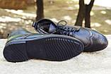 Мужские зимние туфли на меху, коричневого цвета, натуральная кожа, с мехом внутри, фото 7