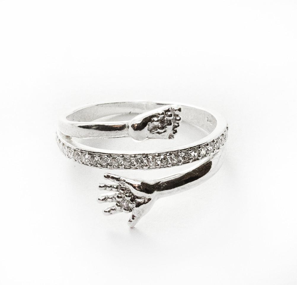 Кольцо  женское серебряное Ручка и Ножка Ребенка КЕ-1257