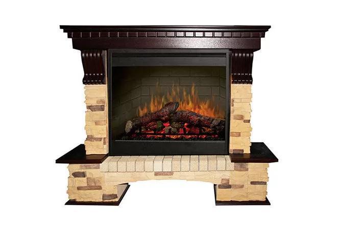 Каминокомплект Fireplace Мексика с эффектом сгоранием дров и пламени со звуком и обогревом