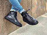 Мужские демисезонные ботинки, черного цвета, натуральная кожа,  Хайтопы мужские, фото 5