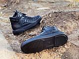 Мужские демисезонные ботинки, черного цвета, натуральная кожа,  Хайтопы мужские, фото 7