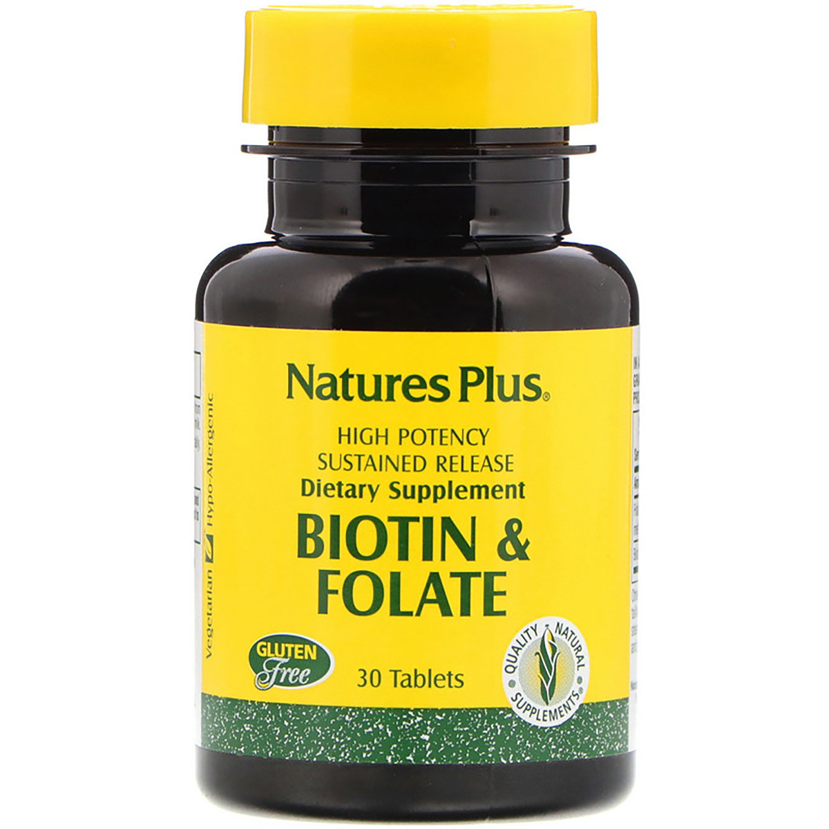 Биотин и фолиевая кислота Nature's Plus 30 таблеток (NTP1792)