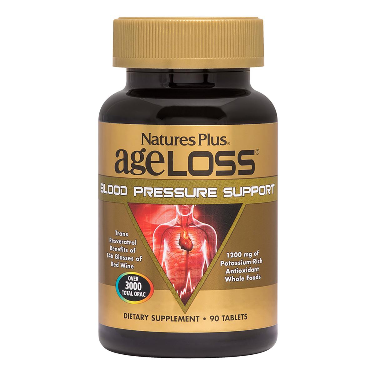 Космплекс для поддержка кровяного давления Natures Plus Ageloss Blood Pressure 90 таблеток (NTP8028)