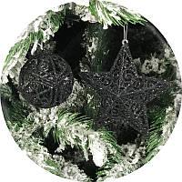 Набор елочных игрушек «Премиум» 12шт (черный)