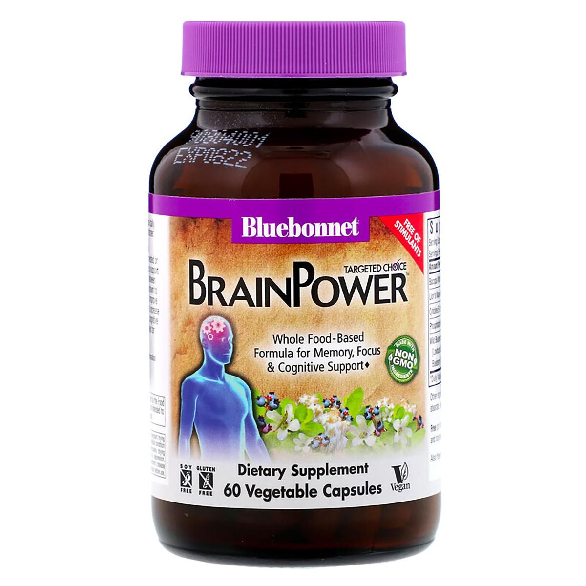 Комплекс поддержки для мозга Bluebonnet Nutrition Targeted Choice Brain Power 60 растительных капсул
