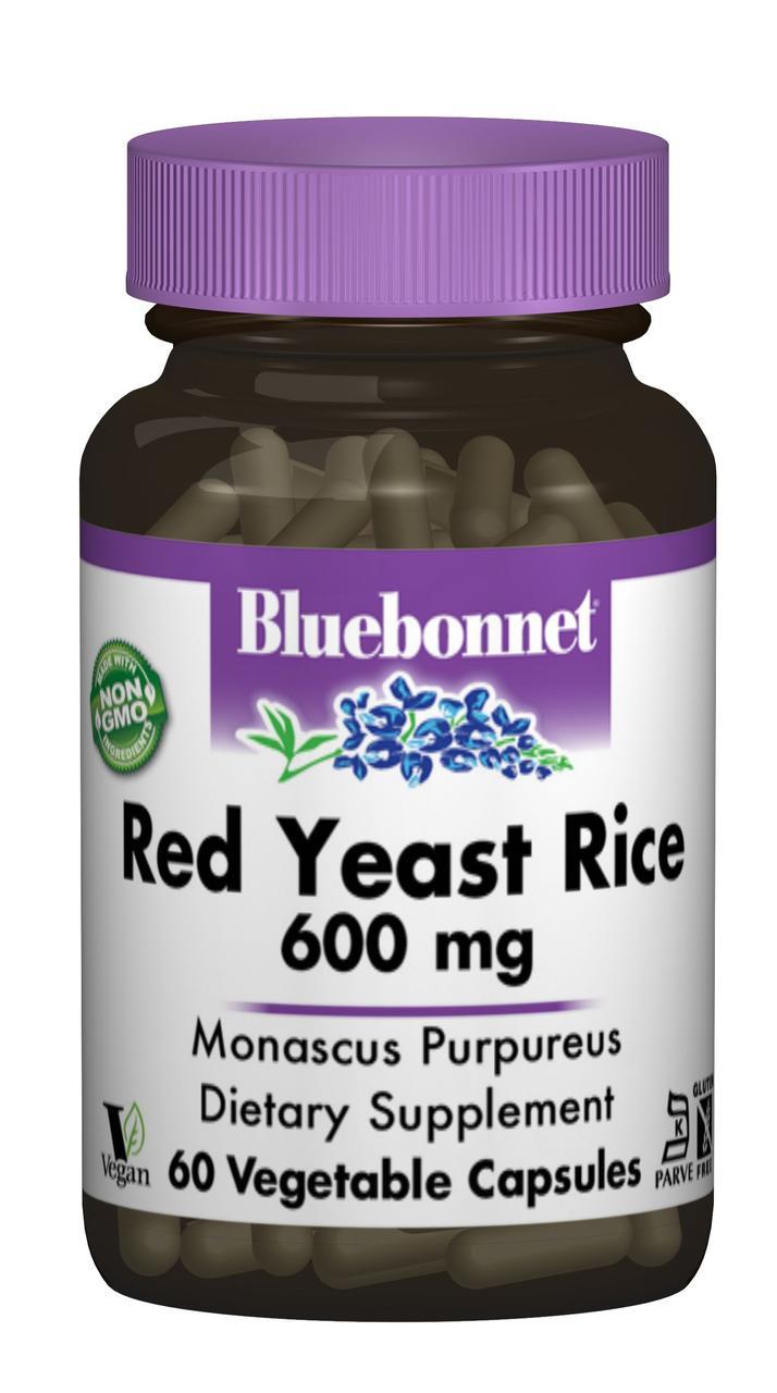Червоний Дріжджовий Рис 600мг Bluebonnet Nutrition 60 гельових капсул