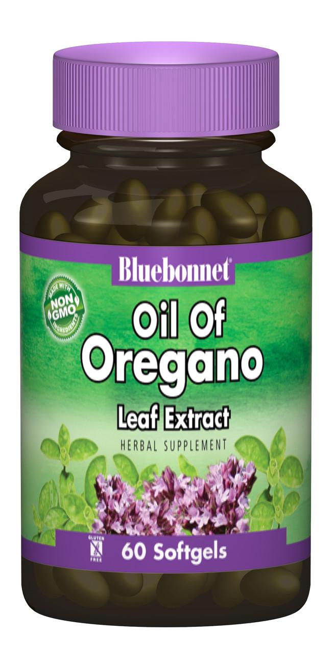 Экстракт из Листьев Орегано Bluebonnet Nutrition 60 желатиновых капсул