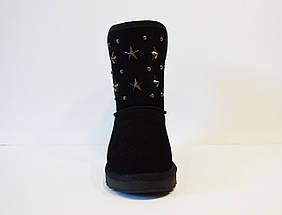 Угги со звездами Sopra 003 39 Черные замша, фото 3