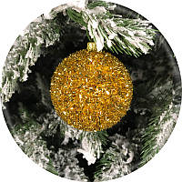Новогодний елочный шар «Ёжик» (золотой, 60мм)