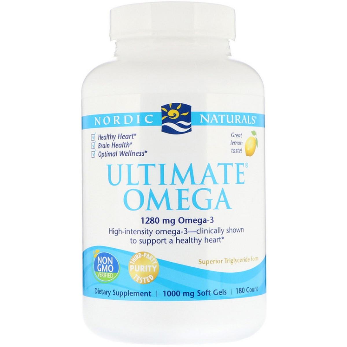 Риб'ячий жир Nordic Naturals Ultimate Omega Lemon 1.280 мг 180 капсул (NOR03790)