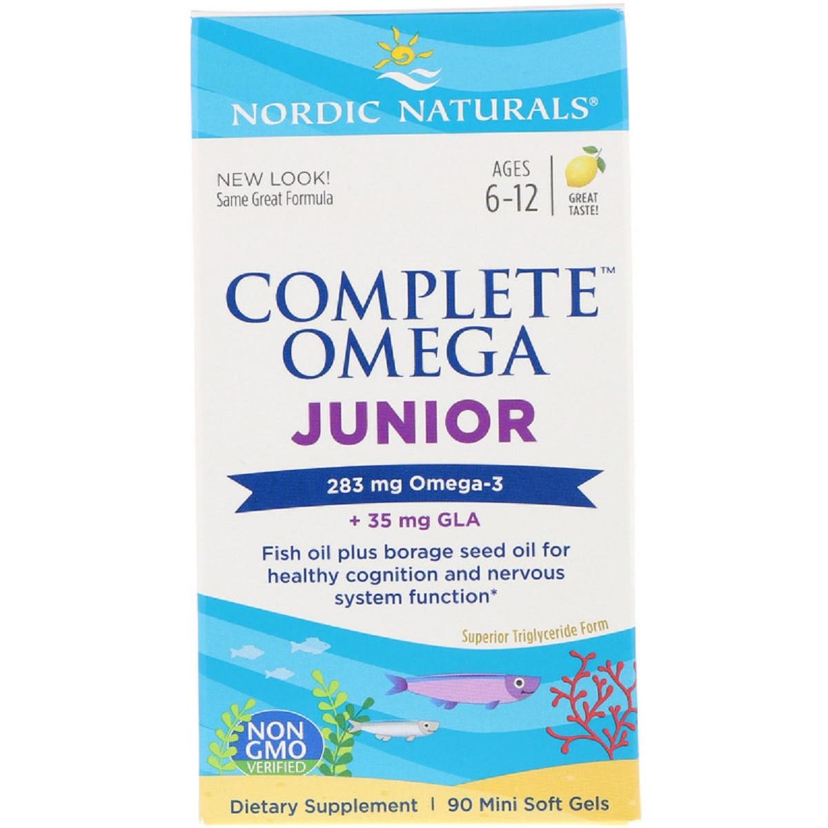 Рыбий жир Nordic Naturals Complete Omega Junior 283 мг 90 капсул (NOR01775)