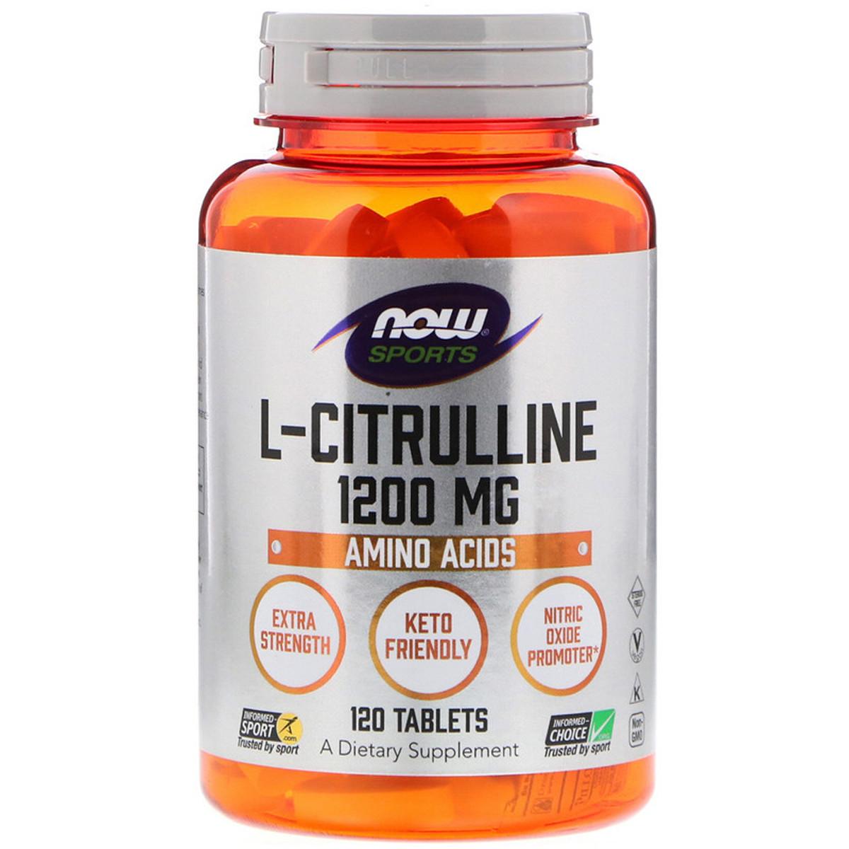 L-Цитруллин Now Foods 1200 мг 120 таблеток (NF0116)