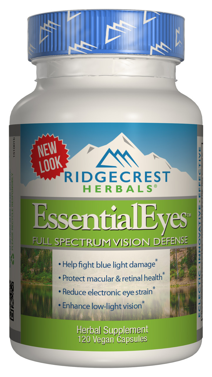 Комплекс для Защиты и Улучшения Зрения EssentialEyes RidgeCrest Herbals 120 гелевых капсул