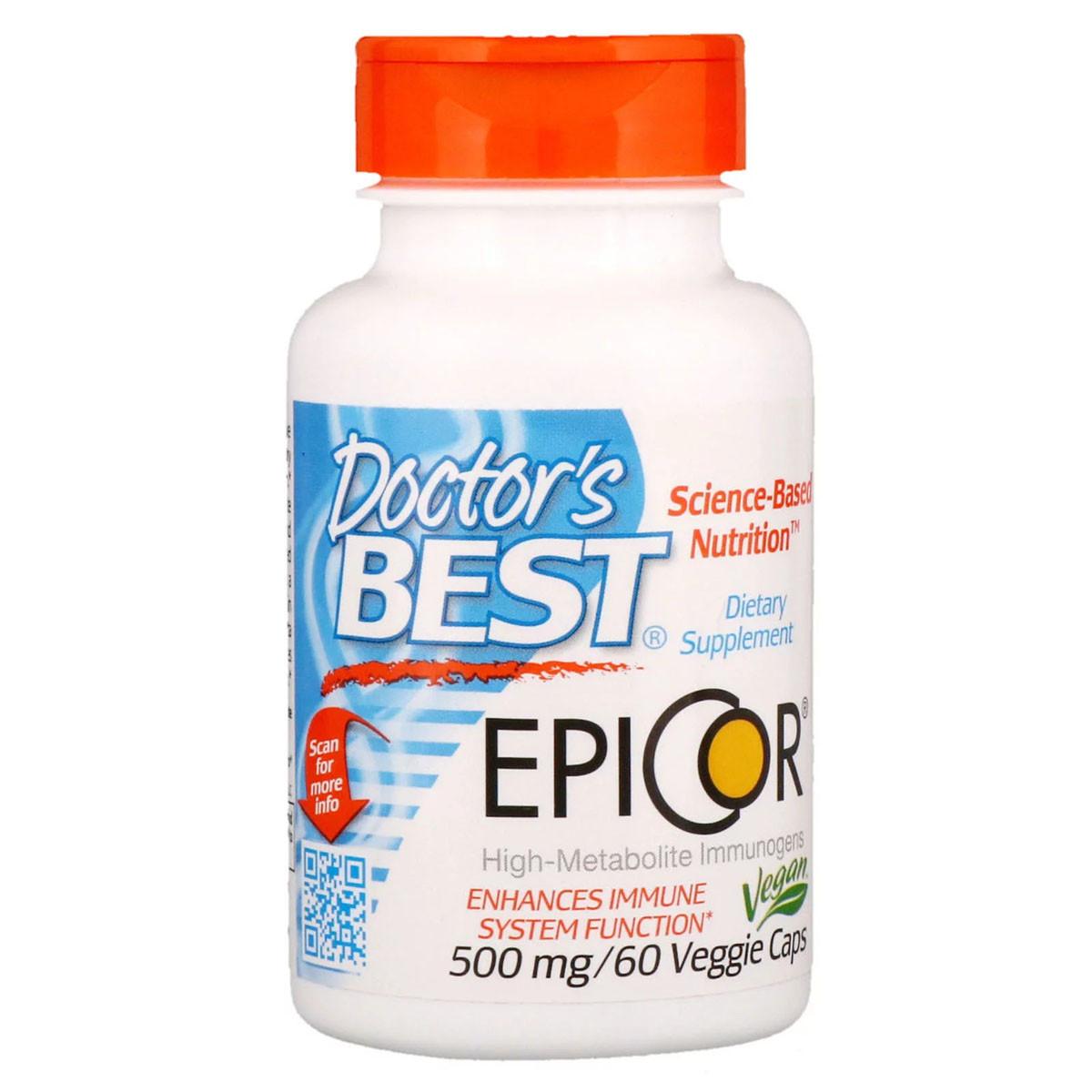 Защита Иммунитета Doctor's Best Epicor 500 мг 60 вегетарианских капсул