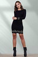 Стильное черное женское короткое платье,ткань Алекси размеры M-L-XL-XXL