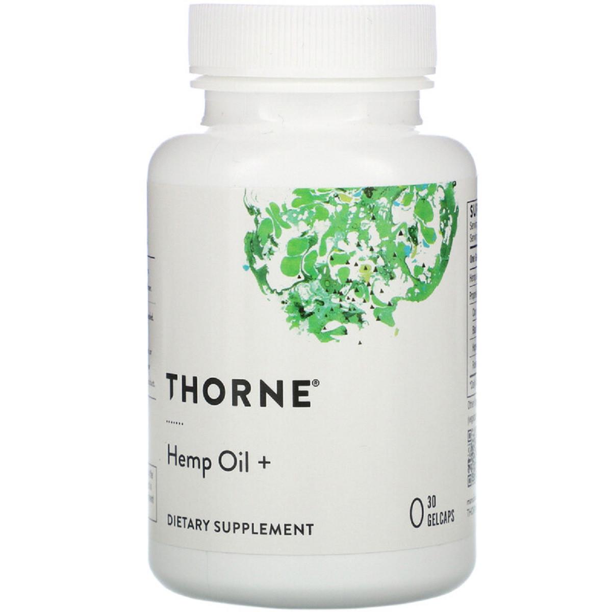 Конопляное масло, Thorne Research, 30 Гелевых капсул