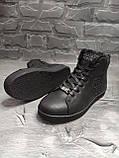 Мужские зимние ботинки на меху, черного цвета, натуральная замша, с мехом внутри, PHILIPP PLEIN, фото 2