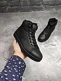 Мужские зимние ботинки на меху, черного цвета, натуральная замша, с мехом внутри, PHILIPP PLEIN, фото 4