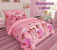 Комплект детского постельного полуторного белья Принцесса София, Бязь Люкс, Тиротекс, розовый, фото 1